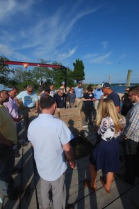 Commissioner Ball, NYS Ags & Mkts and a busload enjoyed our farm tour